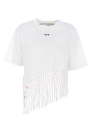 asymmetrical hem fishnet OFF WHITE | 8 | OWAA075R20F291250110