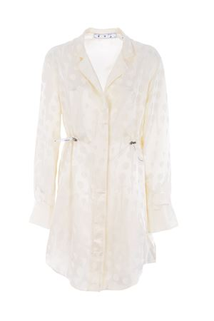 Abito camicia Off White jacquard coulisse OFF WHITE | 11 | OWDB217S20FAB0010100