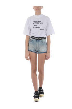 Shorts Palm Angels logo belt PALM ANGELS | 30 | PWYC003S20DEN0014001
