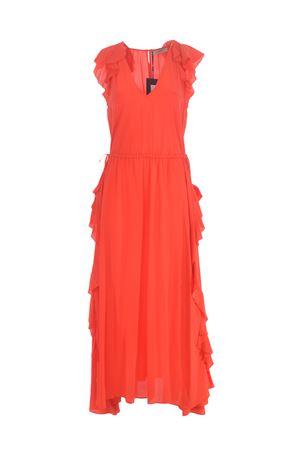 Twinset longuette dress in silk blend crepe de chine