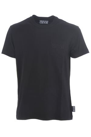 Versace Jeans Couture T-shirt in black cotton jersey VERSACE JEANS | 8 | B3GVA7TC30319-899