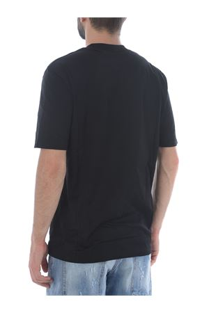 Yes London T-shirt in Black cotton. YES LONDON | 8 | XM3799NERO