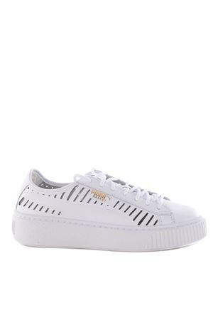 Sneakers donna Puma basket platform summer PUMA | 5032245 | 36519001WHITE