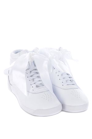 Sneakers donna Puma fs hi satin bow in pelle REEBOK | 5032245 | CM8903WHITE-SKULLGREY