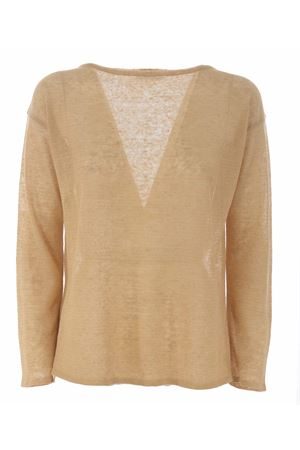Base Milano sweater in linen and lurex blend yarn BASE MILANO | 7 | B5261909-993