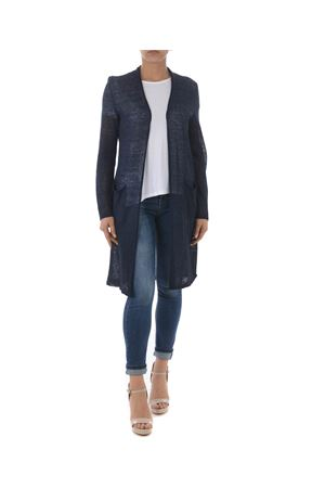 Base Milano long cardigan in linen and lurex blend yarn BASE MILANO | 850887746 | B5270909-852