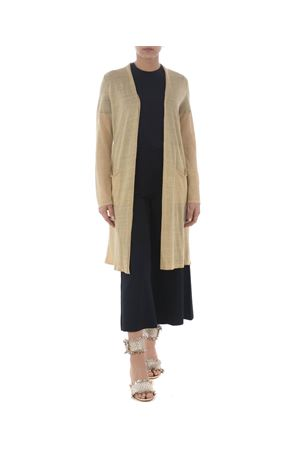 Base Milano long cardigan in linen and lurex blend yarn BASE MILANO | 850887746 | B5270909-993