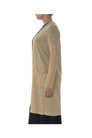 Base Milano long cardigan in linen and lurex blend yarn BASE MILANO | 850887746 | B5270909-993