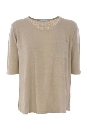 Base Milano t-shirt in stretch linen BASE MILANO | 7 | B5310475-632