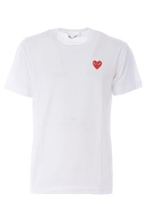 T-shirt Comme des Garcons play COMME des GARCONS PLAY | 8 | P1T108WHITE