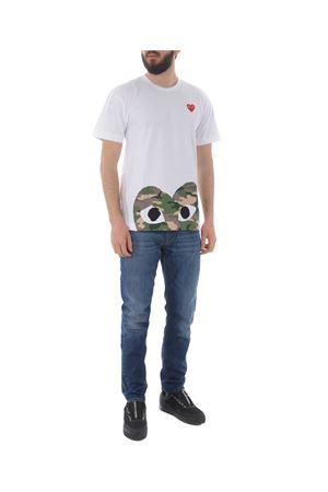 T-shirt Comme des Garçons Play COMME des GARCONS PLAY | 8 | P1T244WHITE