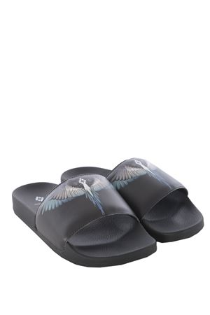 Pantofole uomo Marcelo Burlon County of Milan blue wings slider MARCELO BURLON | 60000003 | CMIA027S198491411088