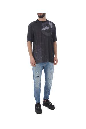 T-shirt Y-3 aop football Y-3 | 8 | DY7220PARACHUTE BLACK