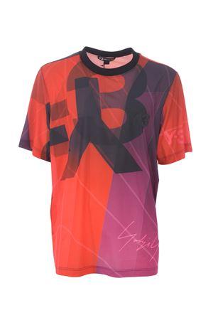T-shirt Y-3 aop football Y-3 | 8 | EC9350SAIL BURGUNDY
