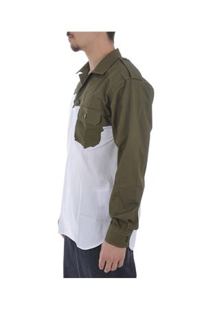 Camicia patchwork Comme des Garçon Shirt COMME des GARCONS SHIRT | 6 | S25037WHITE OLIVE