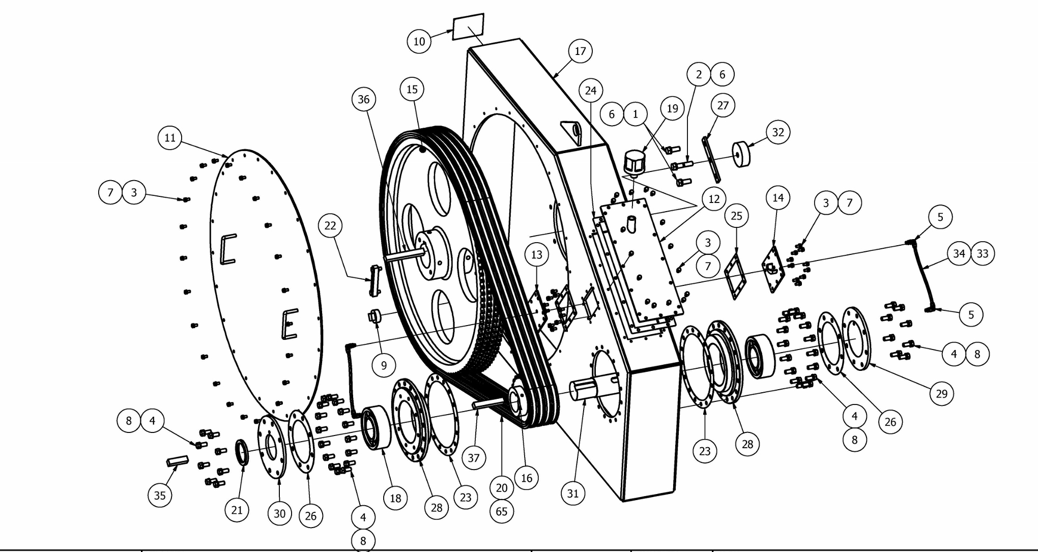 TT-560 Chainbox Parts View