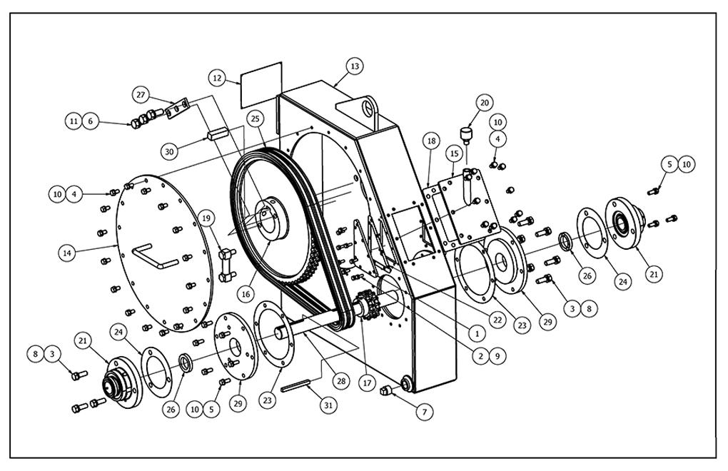 TT-100 Chainbox Parts View