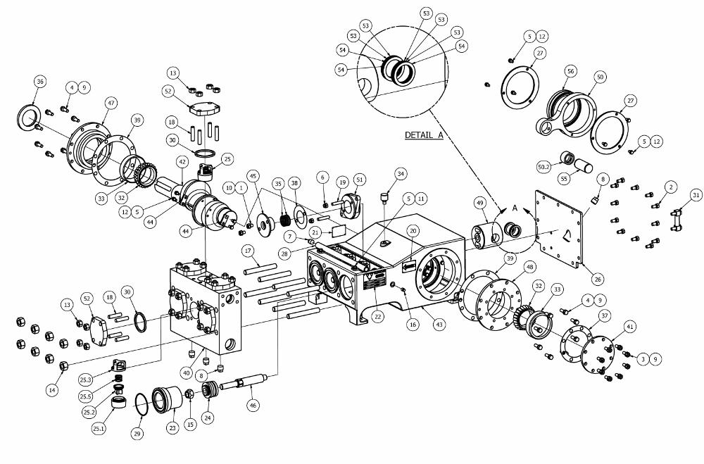 TT-100 Mud Pump Parts View