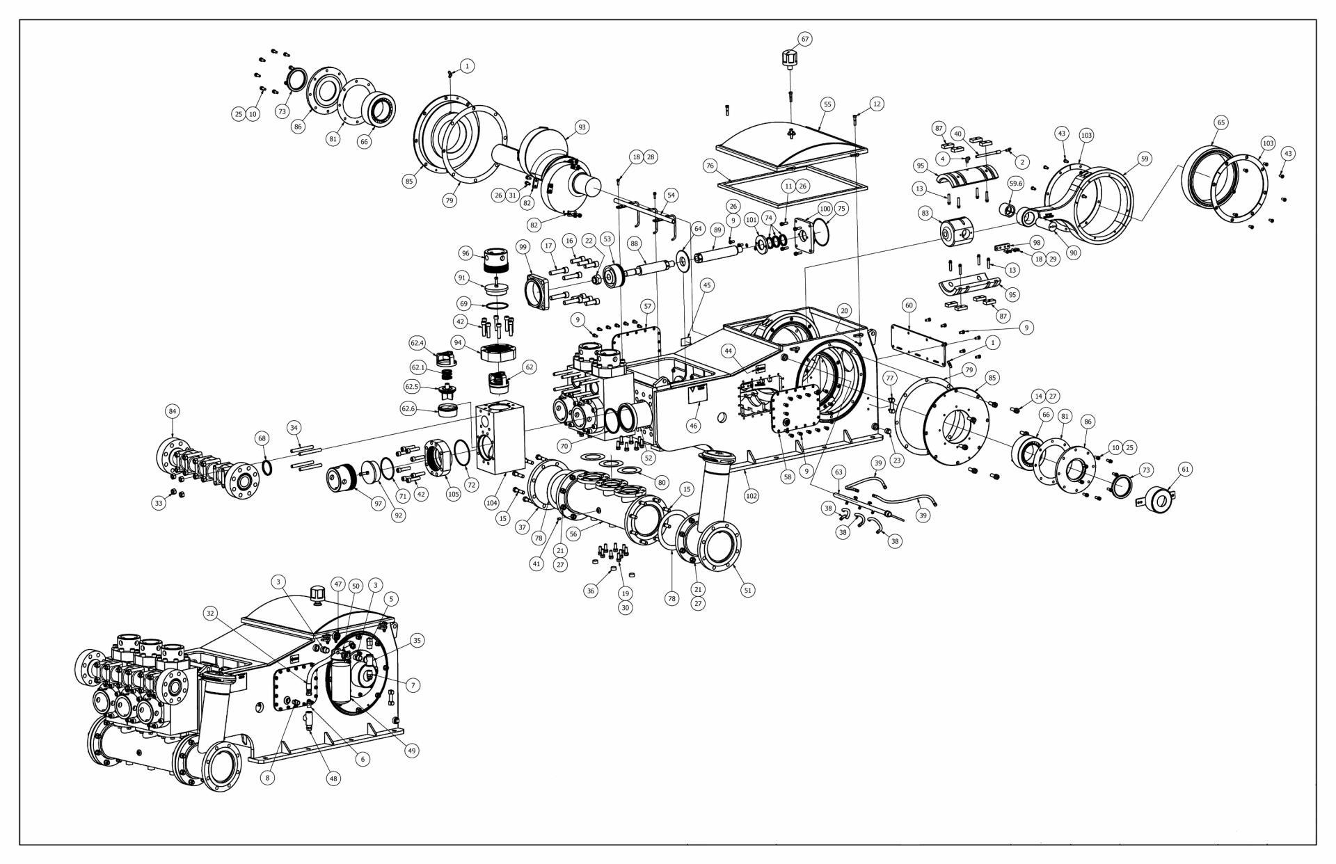 TT-680 Pump Parts View Full Open Valves