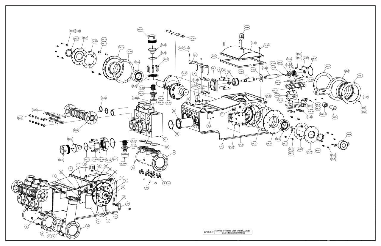 TT-660 Pump Parts View Full Open Valves