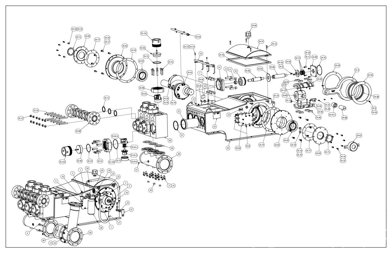 TT-660 Pump Parts View V4 Valves