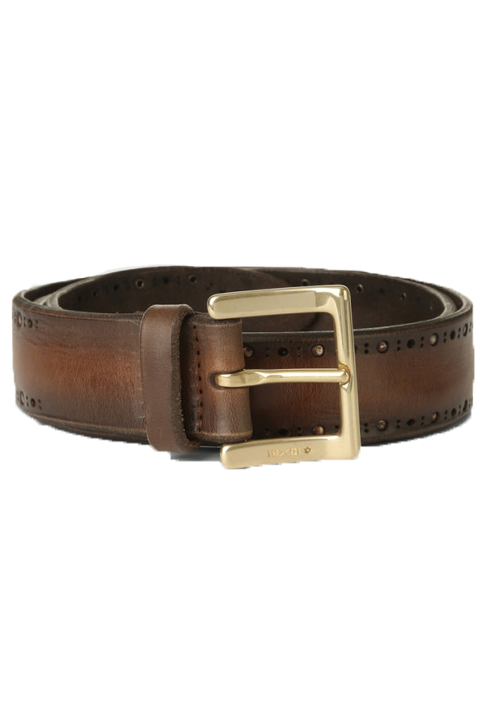 Orciani belt in dark brown leather for men ORCIANI | U078551
