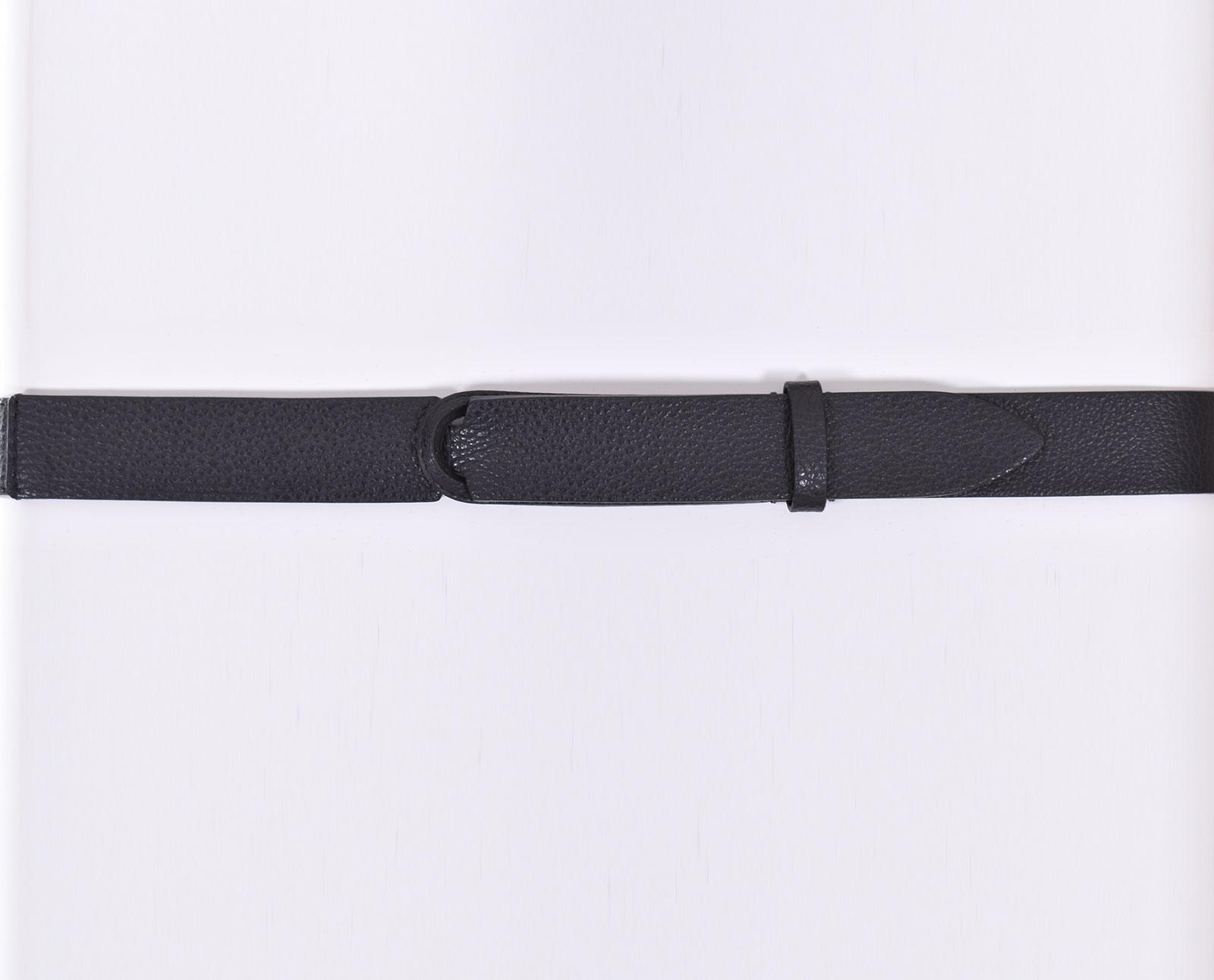 Cintura Orciani nobuckle micron nero ORCIANI   NB003901