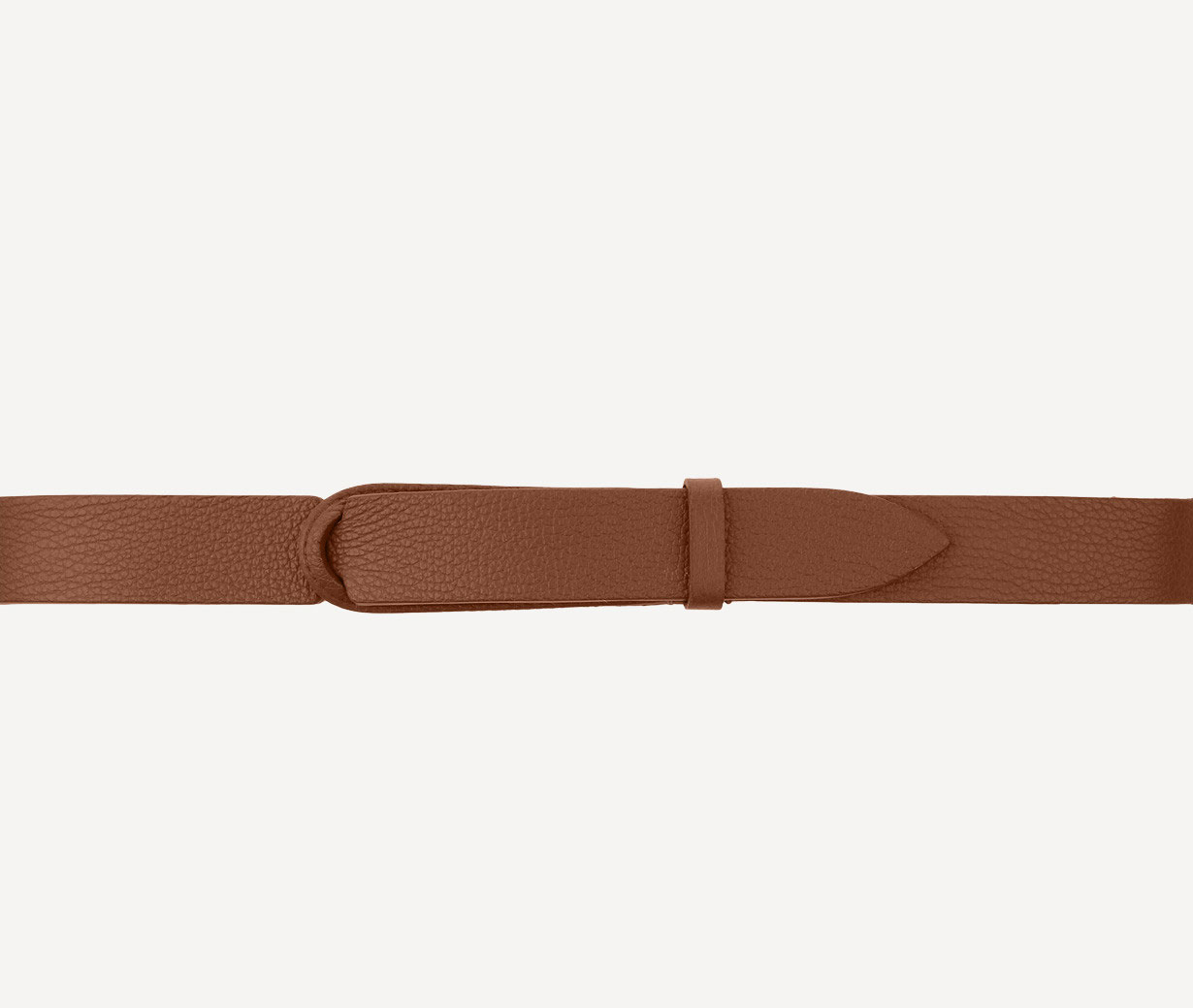 Orciani nobuckle brown micron belt ORCIANI   NB00394