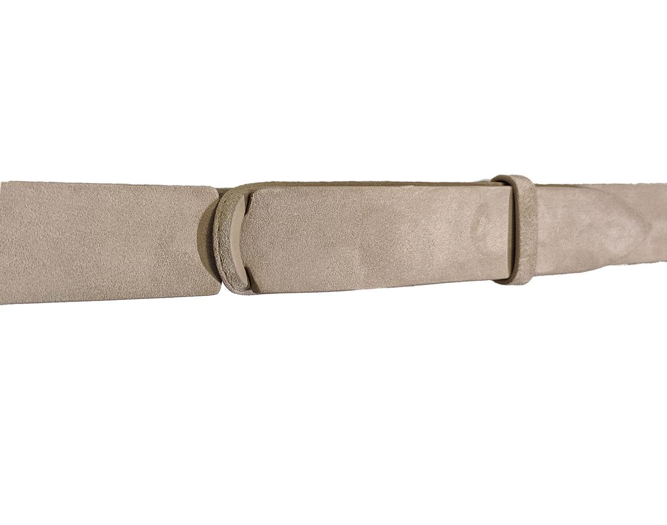 Orciani NoBuckle men's ivory suede belt ORCIANI | NB006037