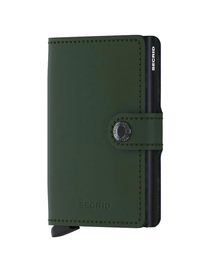 Secrid miniwallet matte green black SECRID | MATTE3