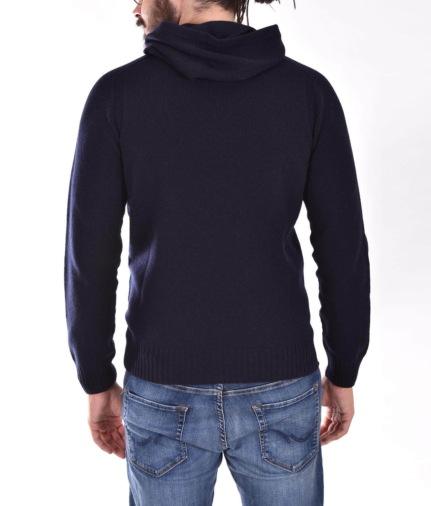 Gran Sasso blue hooded sweater GRAN SASSO | 2412225024598