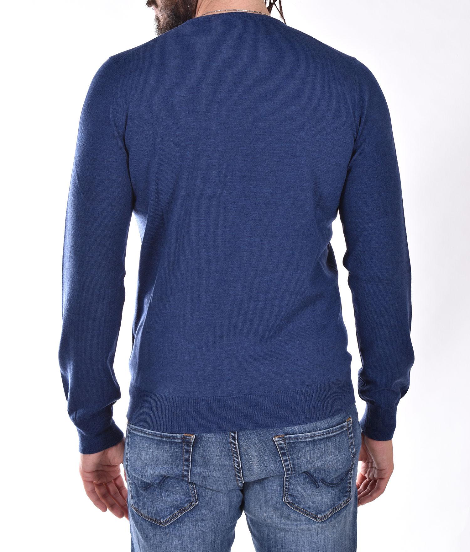Gran Sasso extrafine merinos light blue sweater GRAN SASSO   5516714290589