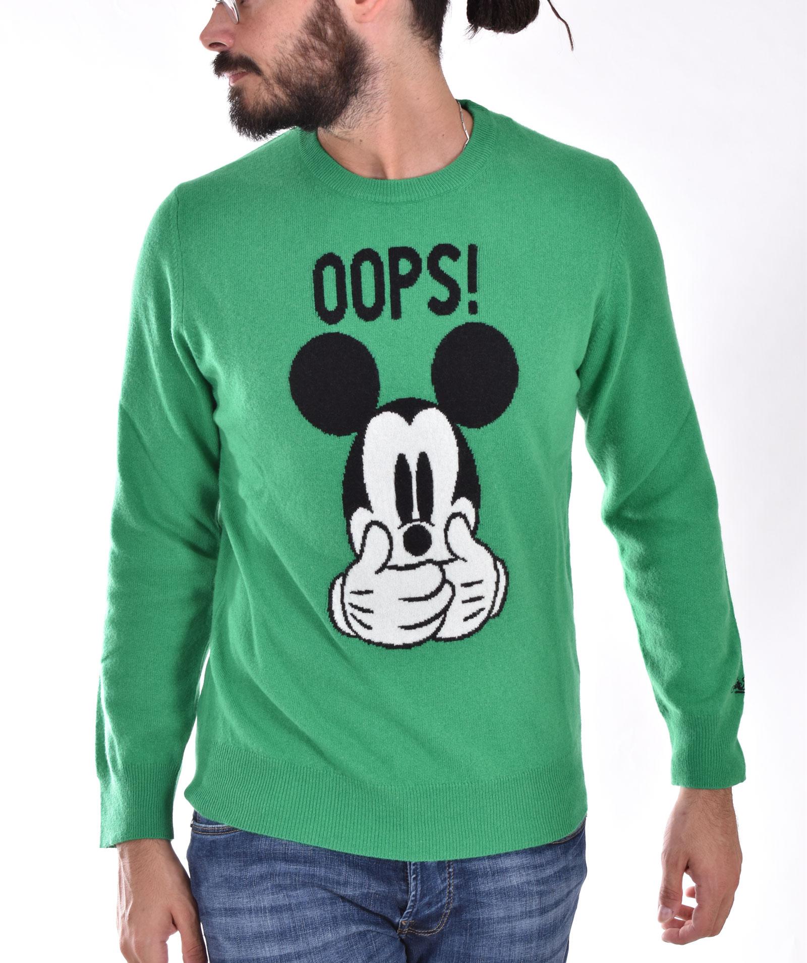 MC2 mickey ops green sweater MC2 SAINT BARTH   MKOP5757