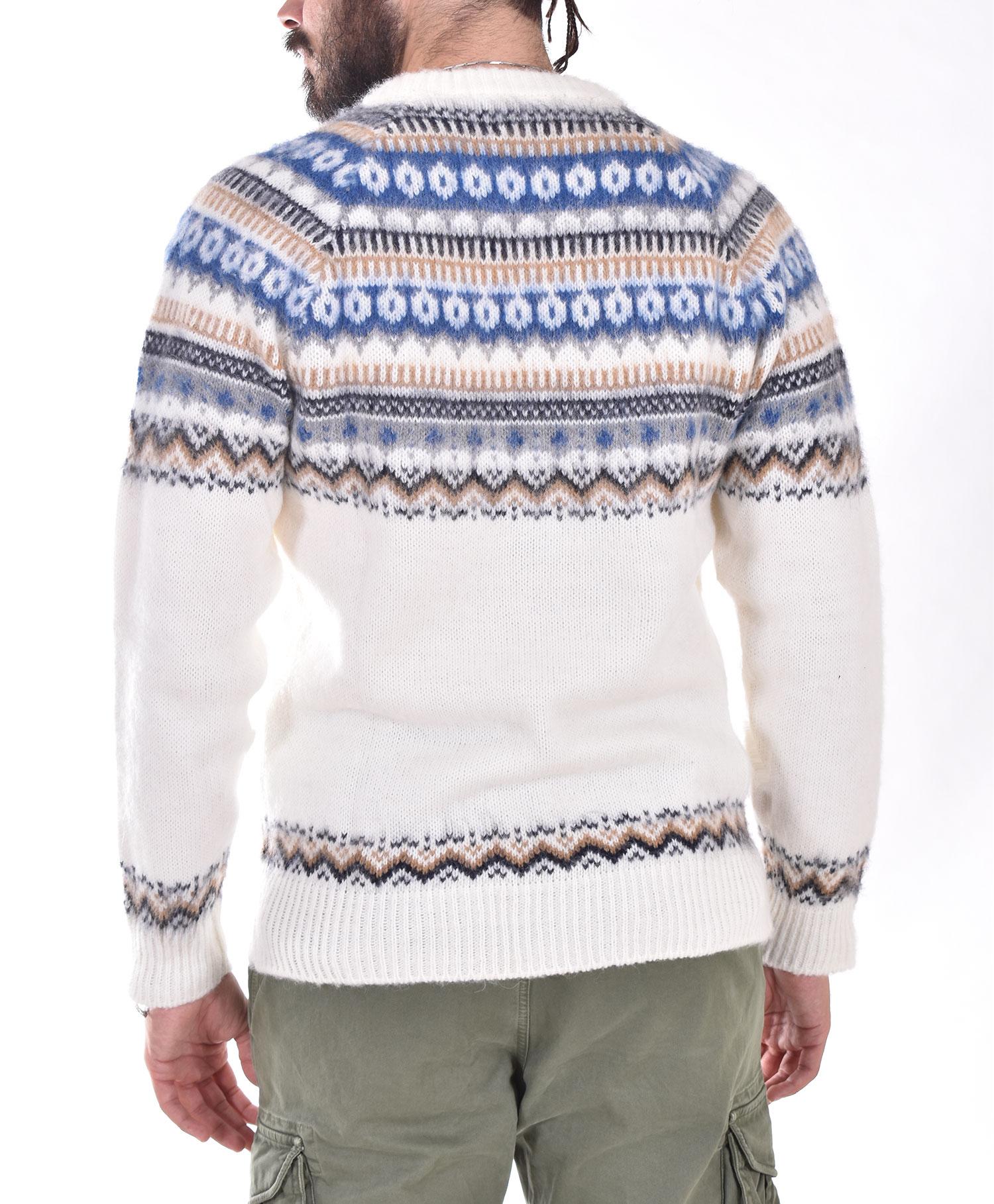 Officina 36 cream white sweater OFFICINA 36   CUNS6901