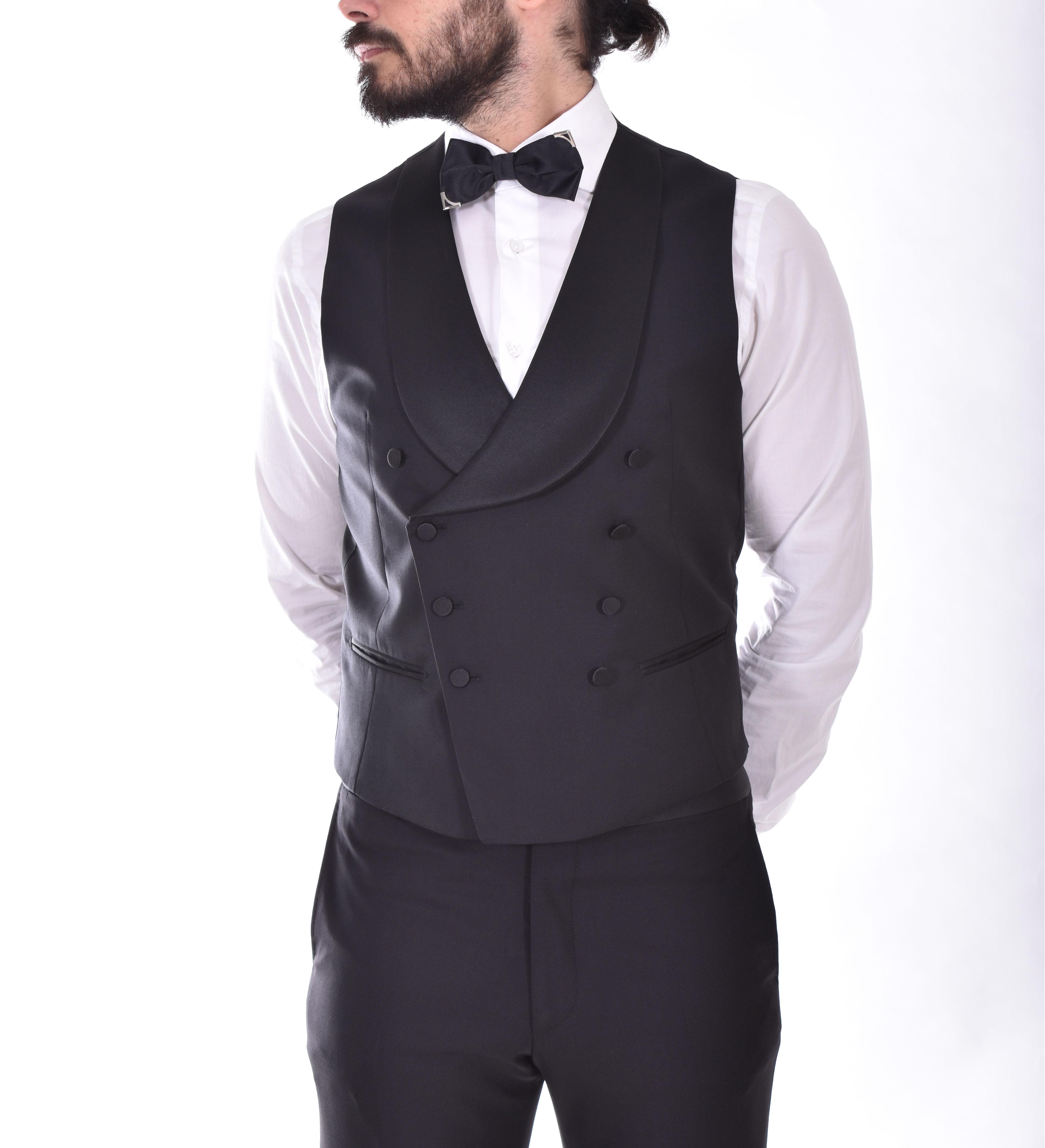 Tagliatore double-breasted black vest TAGLIATORE   08UPZ012N3244