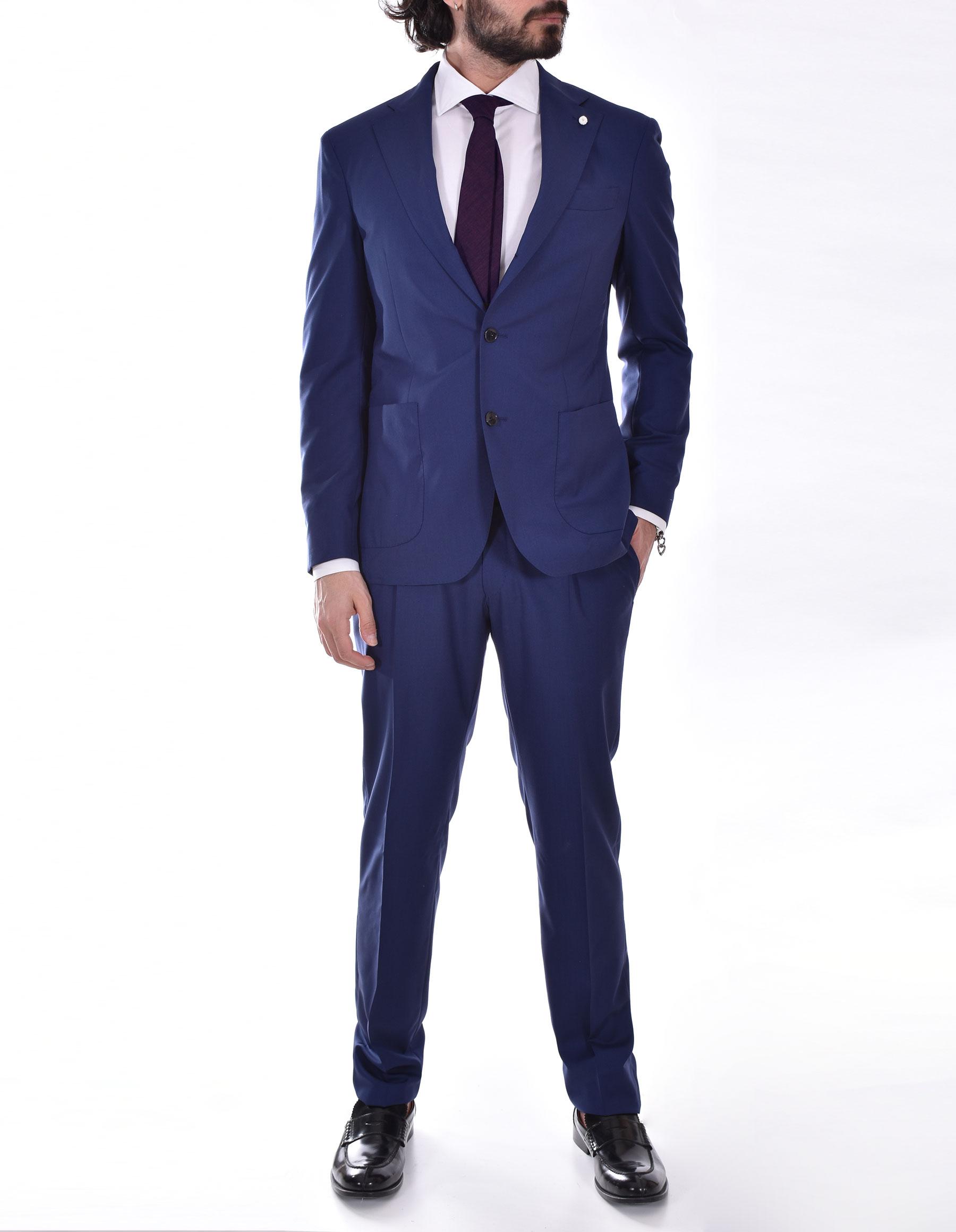 Luigi Bianchi Mantova blue dress Drago 160 Luigi Bianchi Mantova by Lubiam   4504/34016