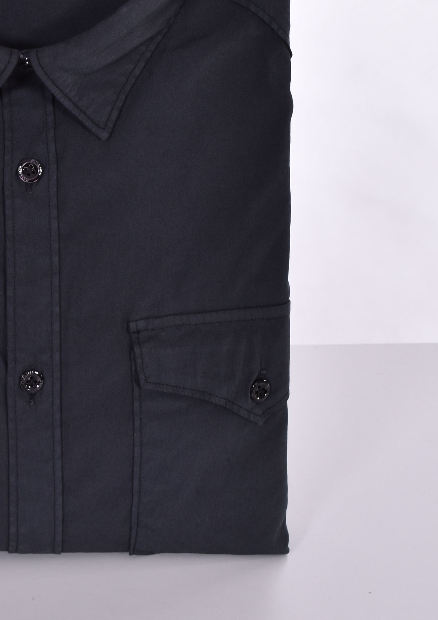 Aglini mario arkansas black shirt AGLINI | F1071101
