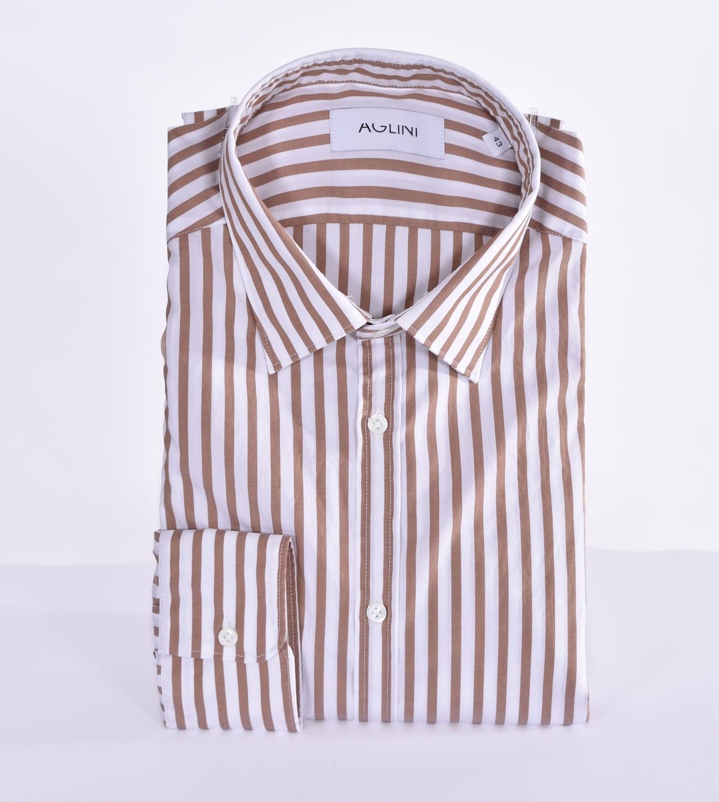 Camicia Aglini mario regular marrone AGLINI | F829.1201
