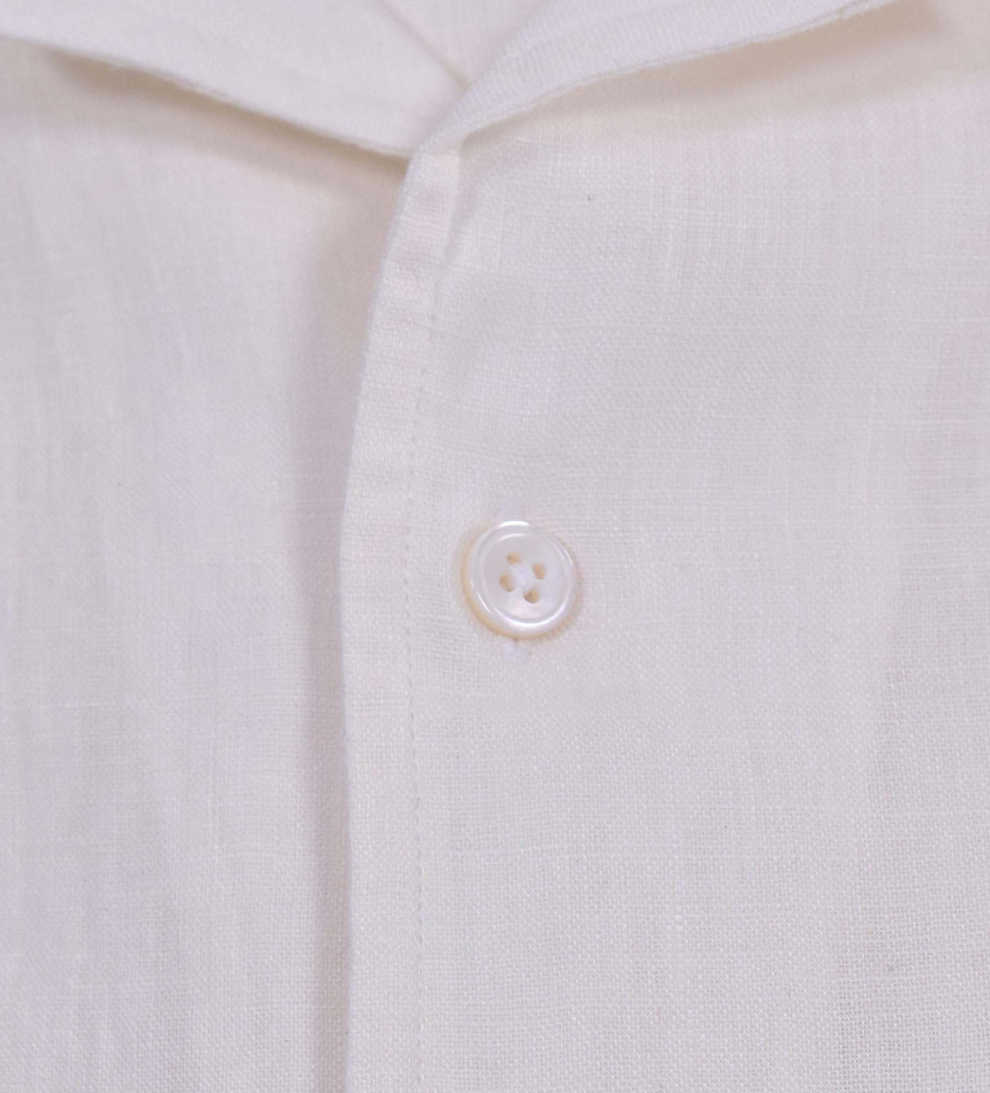 Camicia Bagutta lino bianco johnny BAGUTTA   11124010