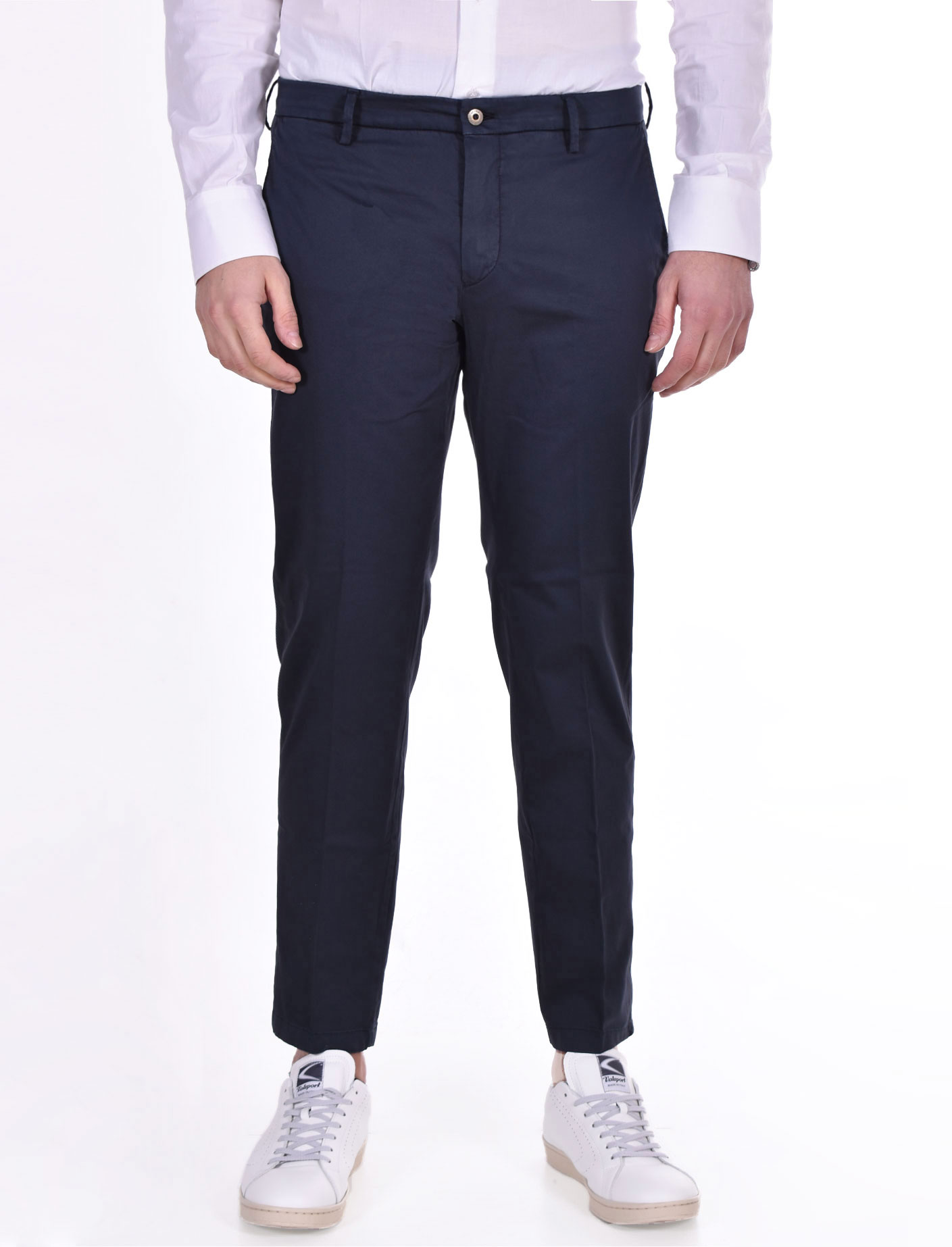 Pantalone Be Able tinto in capo alexander shorter blu BE ABLE   RS10