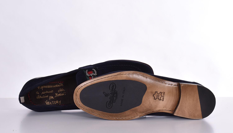 Claudio Marini blue suede loafers CLAUDIO MARINI   82541