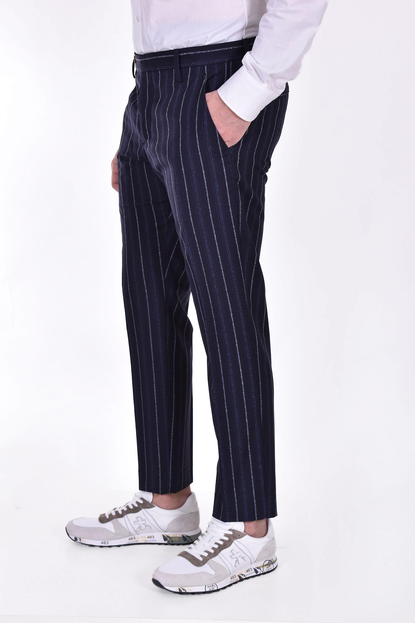 Entre Amis blue pinstripe trousers ENTRE AMIS | P218345209101