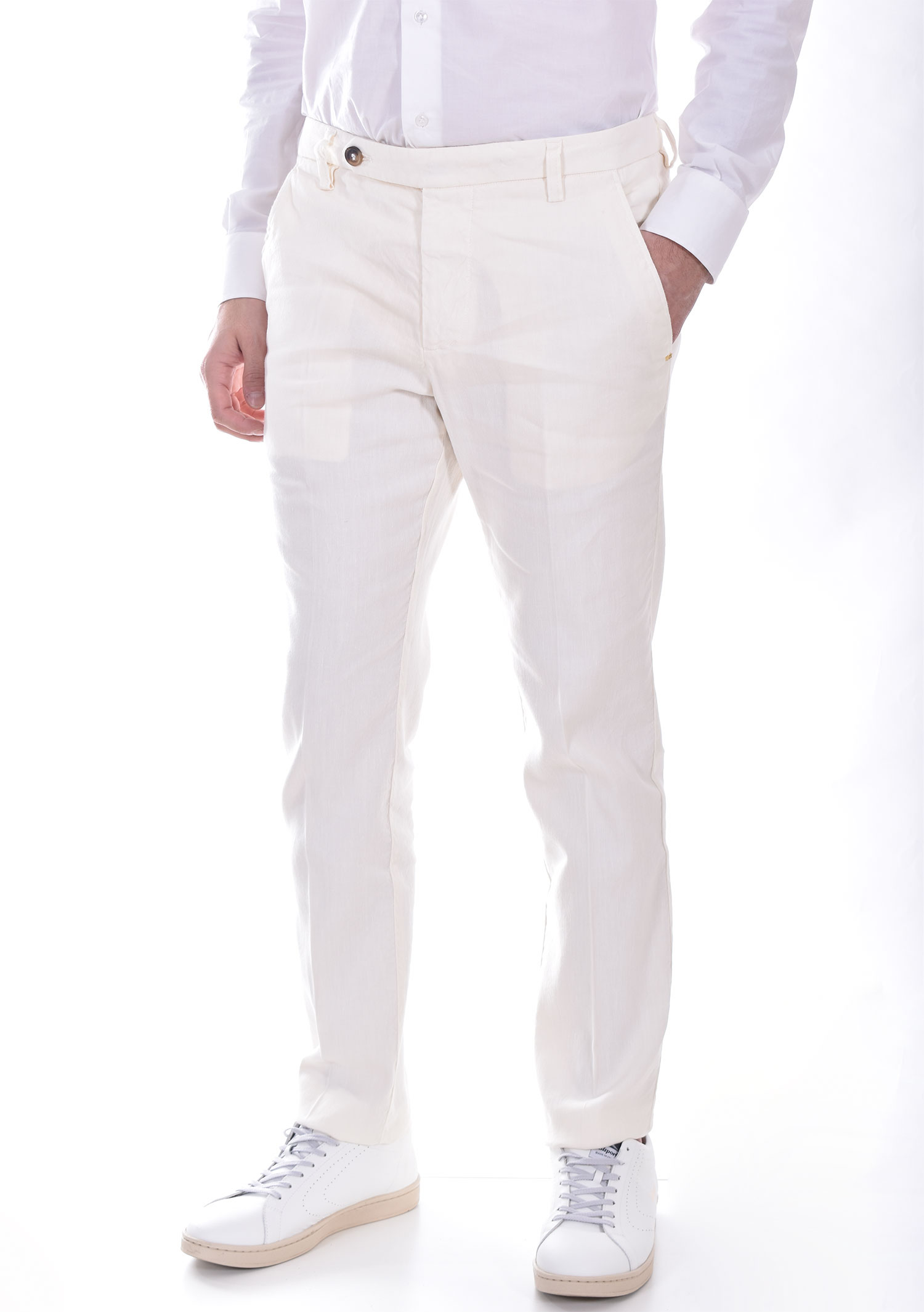 Entre Amis trousers with butter white strap ENTRE AMIS | P218358206701