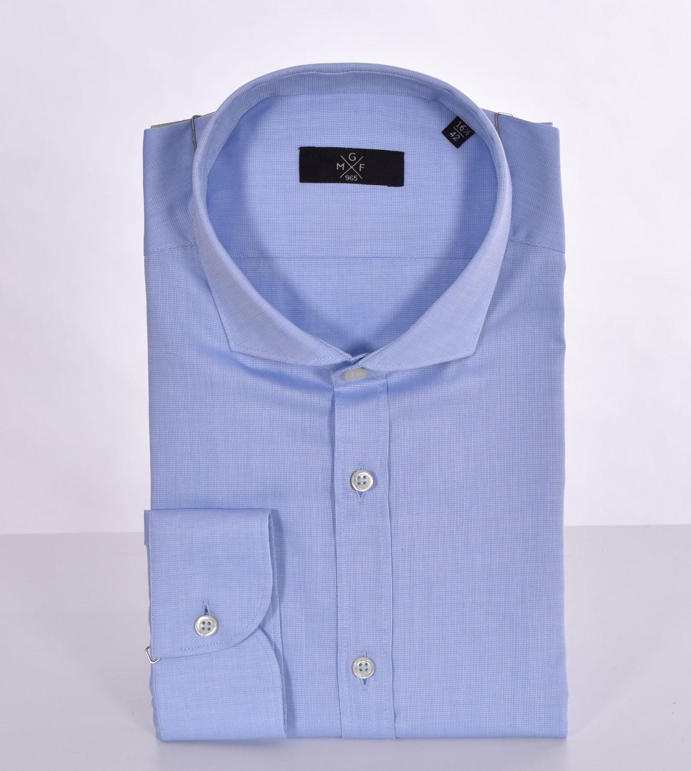 GMF 965 light blue micro-pattern shirt GMF 965 | 10704