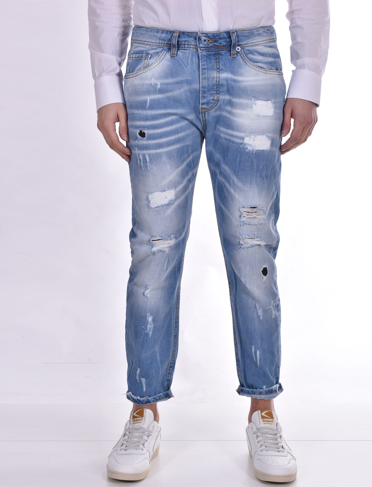 Jeans John ross strappato blu chiaro JOHN ROSS   15011
