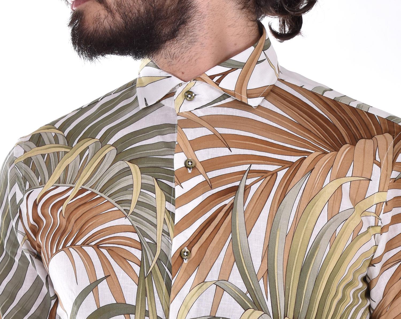 Neill Katter green leaves shirt NEILL KATTER | 5450001