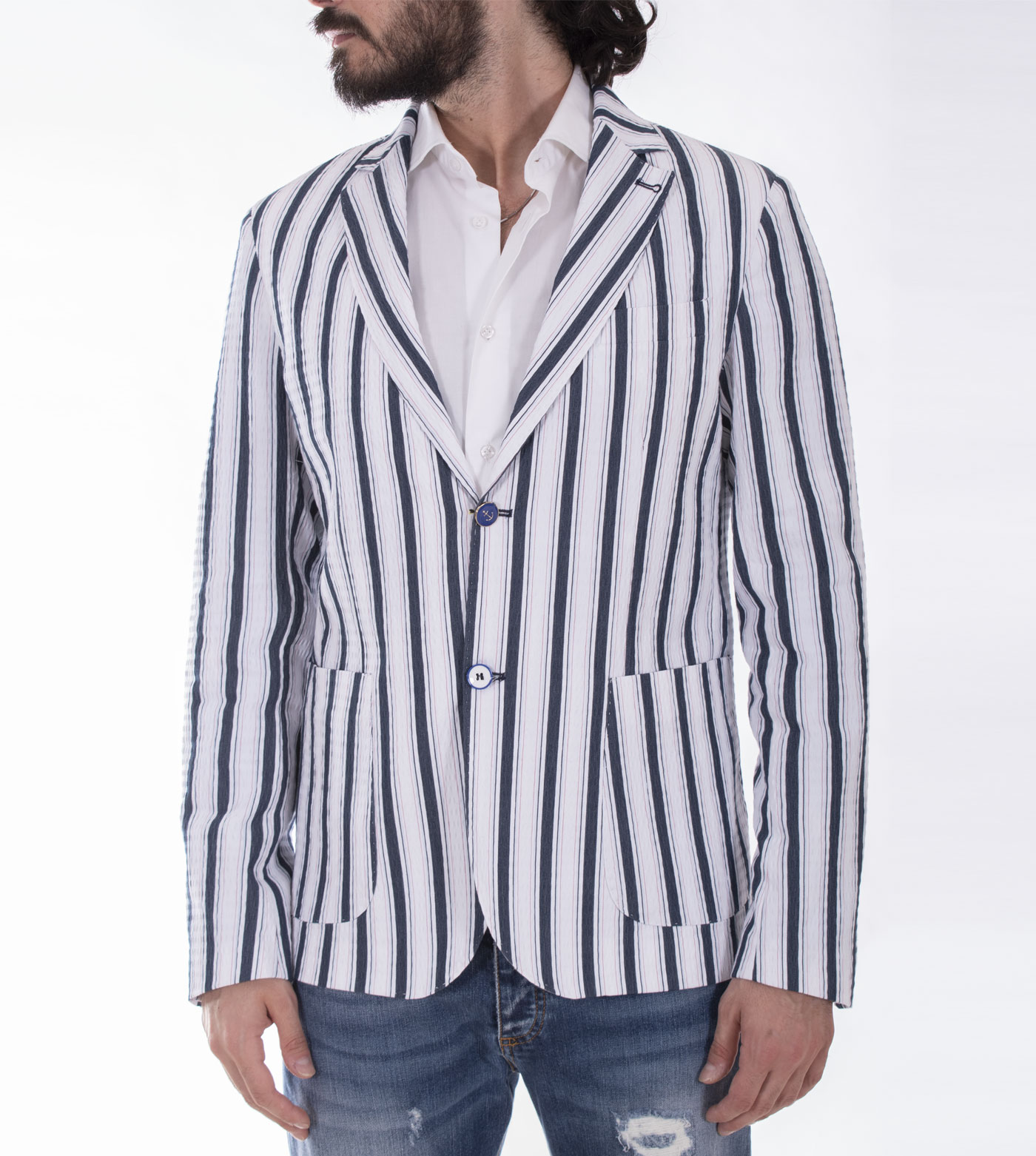 Neill Katter blue white striped jacket NEILL KATTER   7211601