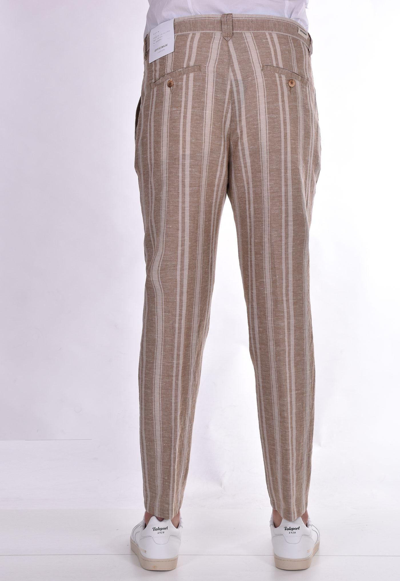Officina trousers 36 lines beige linen OFFICINA 36 | 2822TP1