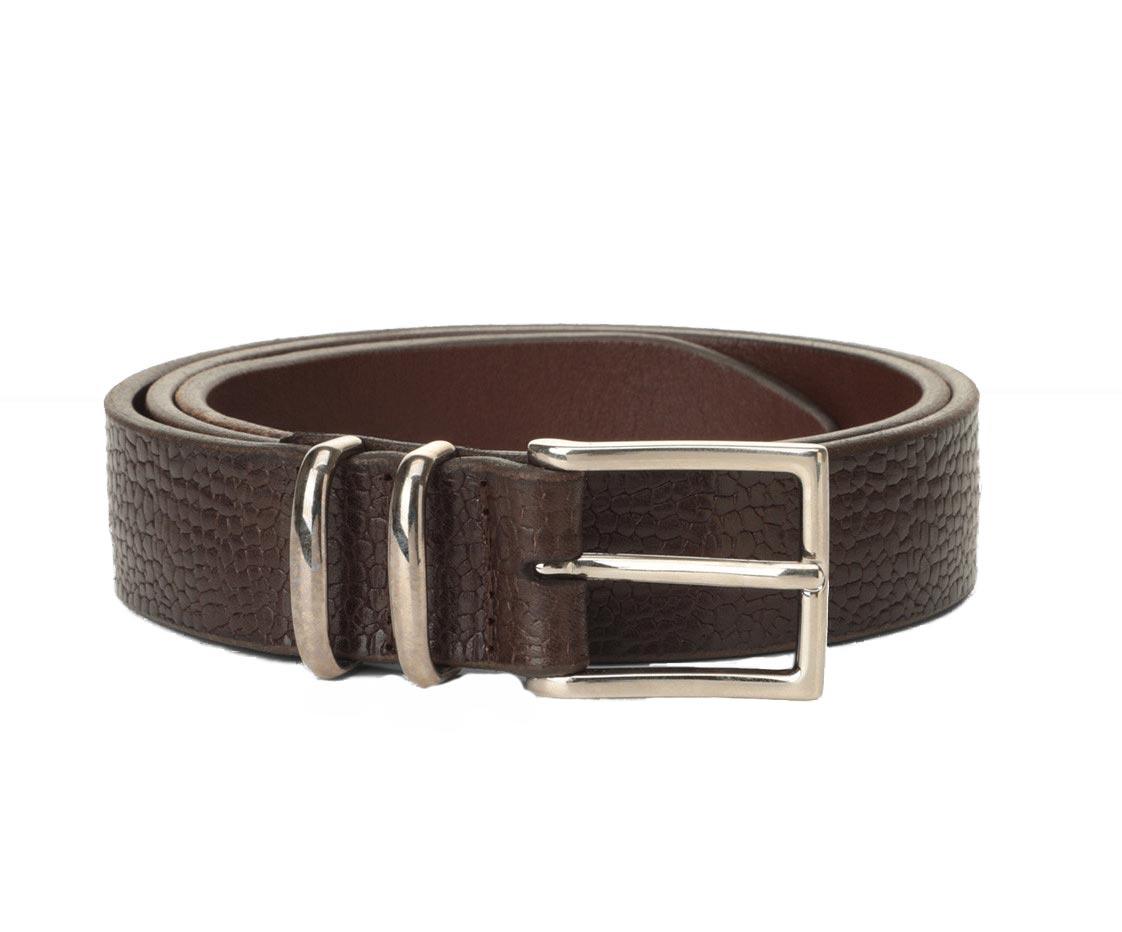 Orciani man belt grit dark brown ORCIANI | U078912