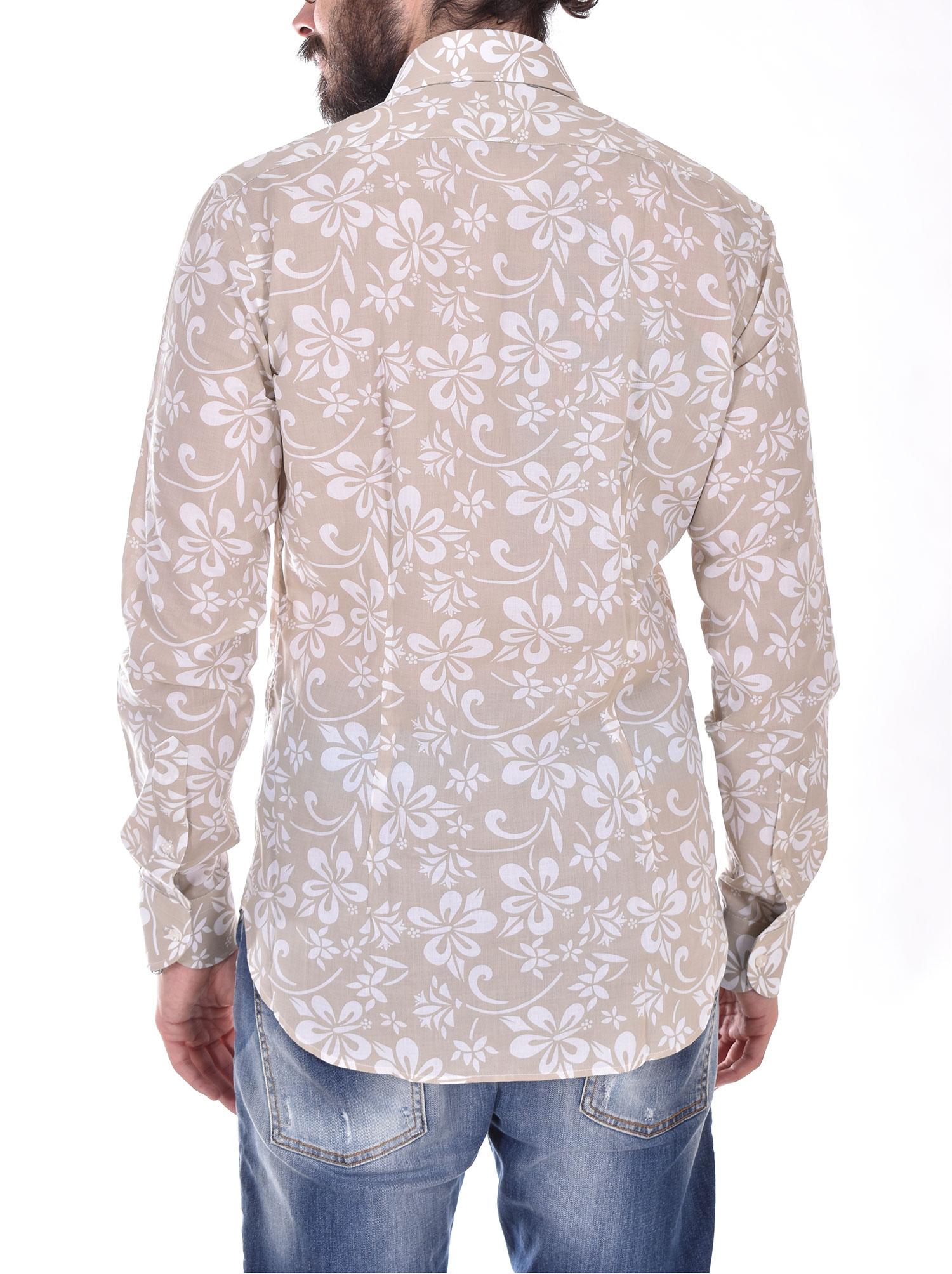 Beige flower Orian shirt ORIAN | 70715